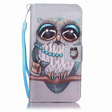Maska Pentru Samsung Galaxy A5(2017) A3(2017) Portofel Titluar Card Cu Stand Întoarce Model Corp Plin Bufniţă Greu PU Piele pentru A3