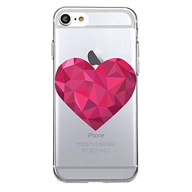 Maska Pentru Apple Ultra subțire Transparent Carcasă Spate Inimă Moale TPU pentru iPhone 7 Plus iPhone 7 iPhone 6s Plus iPhone 6s iPhone