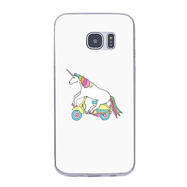 غطاء من أجل Samsung Galaxy S7 edge S7 نحيف جداً نموذج غطاء خلفي آحادي القرن ناعم TPU إلى S7 edge S7 S6 edge plus S6 edge S6 S6 Active S5