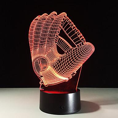 1piece 3d hologram yanılsama hurma gece ışık led masa lambası usb şarj cihazı ile atmosfer lamba renk değiştiren