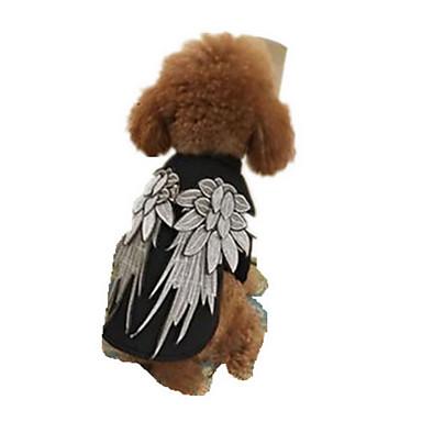 Pies Płaszcze Ubrania dla psów Oddychający Urocza Stały Black/White Kostium Dla zwierząt domowych