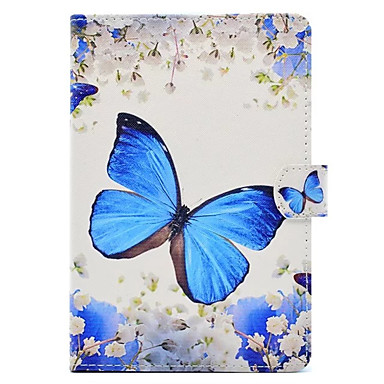 Case For Apple with Stand / Pattern Full Body Cases Butterfly Hard PU Leather for iPad New Air(2019) / iPad Mini 3/2/1 / iPad Mini 4