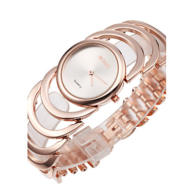 ASJ Dames Modieus horloge Dress horloge Japans Kwarts Legering Band Elegant Bangle Goud Goud Rose