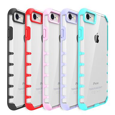 Kılıf Na iPhone 7 Plus iPhone 7 Apple Odporne na wstrząsy Przezroczyste Czarne etui Solid Color Twarde PC na iPhone 7 Plus iPhone 7