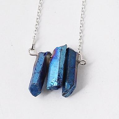 Dame Coliere cu Pandativ Jad Aliaj Bijuterii Vintage Euramerican Albastru Deschis Bijuterii Zi de Naștere Zilnic 1 buc