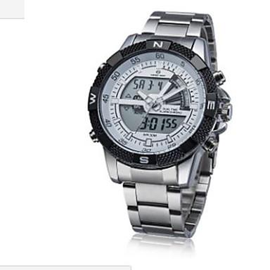 Muotikello Digitaalinen Watch Quartz Digitaalinen Metalliseos Bändi Arki- Valkoinen Ruskea  Hopea