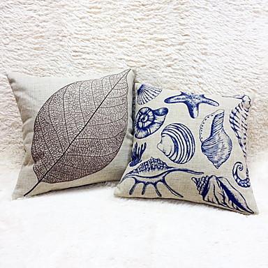 1 szt Cotton / Linen Poszewka na poduszkę,Martwa natura Wzory graficzneModern / Contemporary Przypadkowy Retro Akcent / Decorative Na
