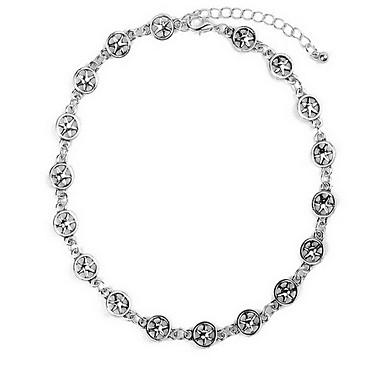 Kadın Zincir Kolyeler Circle Shape Star Shape alaşım Euramerican Moda Elyapımı Avrupa Eski Tip Beyaz Mücevher Için Doğumgünü Günlük 1pc