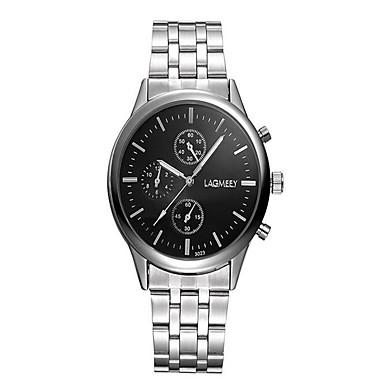 Bărbați Ceas La Modă Quartz / Oțel inoxidabil Bandă Casual Albastru Argint