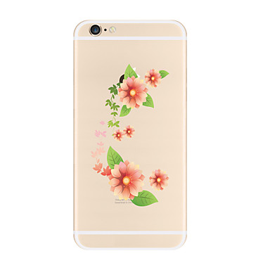 Maska Pentru Apple iPhone X iPhone 8 Plus Transparent Model Carcasă Spate Floare Moale TPU pentru iPhone X iPhone 8 Plus iPhone 8 iPhone