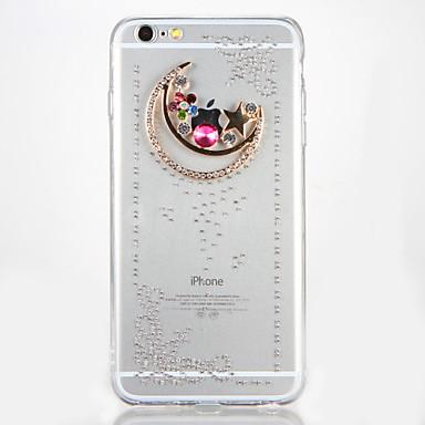 Kılıf Na Apple iPhone 7 Plus iPhone 7 Stras DIY Czarne etui Rysunek Twarde Akrylowy na iPhone 7 Plus iPhone 7 iPhone 6s Plus iPhone 6s