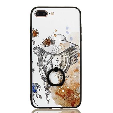 Kılıf Na iPhone 7 Plus iPhone 7 Apple Uchwyt pierścieniowy Wzór Czarne etui Seksowna dziewczyna Twarde PC na iPhone 7 Plus iPhone 7