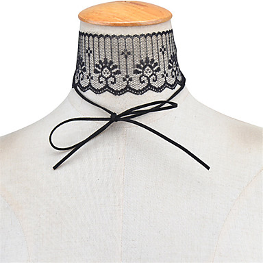 Kadın's Bowknot Shape Kişiselleştirilmiş Temel Moda Euramerican Gerdanlıklar Mücevher Dantel Gerdanlıklar , Parti Özel Anlar Günlük
