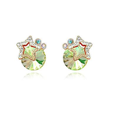 Damskie Kolczyki na sztyft Kryształ Spersonalizowane Okragły Unikalny euroamerykańskiej Biżuteria Ślub Impreza Urodziny