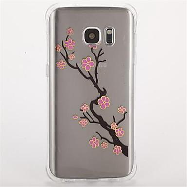 Etui Käyttötarkoitus Samsung Galaxy S7 edge S7 Iskunkestävä Kuvio Takakuori Kukka Pehmeä TPU varten S7 edge S7 S6 S5