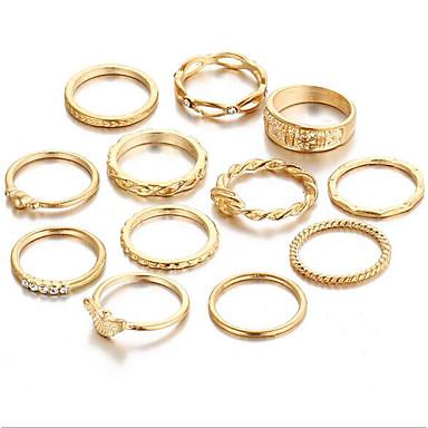 Damskie Stop Zestaw dzwonków - Vintage Gold Pierścień Na Codzienny
