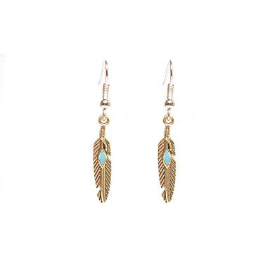 Damskie Kolczyki zwisają Biżuteria Wiszący euroamerykańskiej biżuteria kostiumowa Postarzane Stop Skrzydła / Feather Biżuteria Na