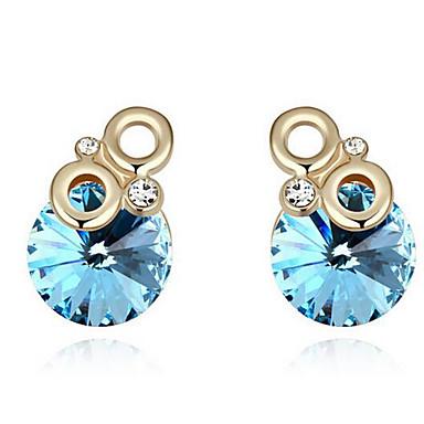 Damskie Kolczyki na sztyft Kryształ Spersonalizowane Okragły Unikalny Modny euroamerykańskiej minimalistyczny styl Biżuteria Na Ślub