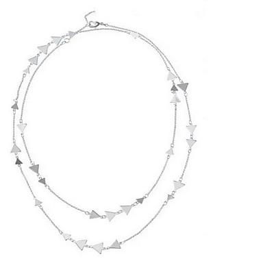 Pentru femei Coliere Layered Triangle Shape La modă Personalizat Euramerican Auriu Argintiu Bijuterii Pentru 1 buc