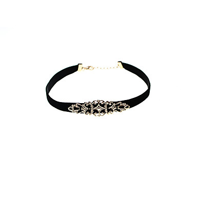 Damskie Pojedynczy Strand Spersonalizowane Vintage euroamerykańskiej Rzeźniony Naszyjniki choker Biżuteria Materiał Stop Naszyjniki choker