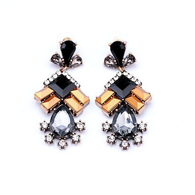 Γυναικεία Κρεμαστά Σκουλαρίκια Κρυστάλλινο Λουλουδάτο Geometric Κρύσταλλο Κράμα Geometric Shape Κοσμήματα Πάρτι Καθημερινά Causal