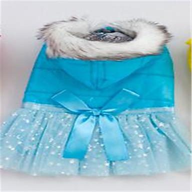 Câine Rochii Îmbrăcăminte Câini Respirabil Draguț Solid Galben Albastru Costume Pentru animale de companie