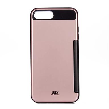 Etui Käyttötarkoitus Apple iPhone 7 Plus iPhone 7 Korttikotelo Iskunkestävä Takakuori Yhtenäinen väri Kova PC varten iPhone 7 Plus iPhone