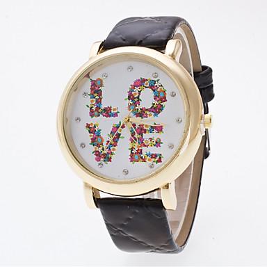 Bayanların Spor Saat Elbise Saat Moda Saat Bilek Saati Çince Quartz Gerçek Deri Bant İhtişam Günlük Yaratıcı Çok-RenkliBeyaz Siyah Mavi