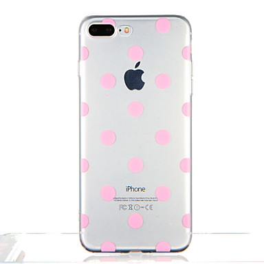 Maska Pentru Apple iPhone 7 Plus iPhone 7 Transparent Model Capac Spate Țiglă Model Geometric Moale TPU pentru iPhone 7 Plus iPhone 7