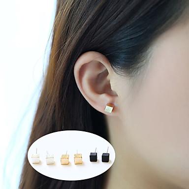 Damskie Kolczyki na sztyft Biżuteria Klasyczny Stop Square Shape Geometric Shape Biżuteria Na Impreza Codzienny Casual