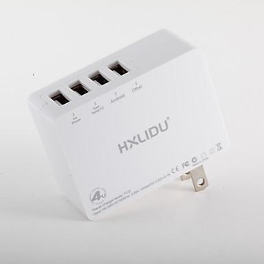 φορητός φορτιστής για ipad για κινητό για tablet για iphone 8 7 samsung s8 s7 4 θύρες usb us plug