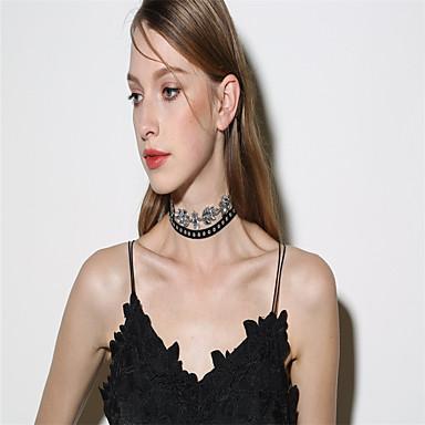 Γυναικεία Leaf Shape Εξατομικευόμενο Μοντέρνα Euramerican Κολιέ Τσόκερ Κοσμήματα Στρας Κράμα Κολιέ Τσόκερ , Πάρτι Ειδική Περίσταση