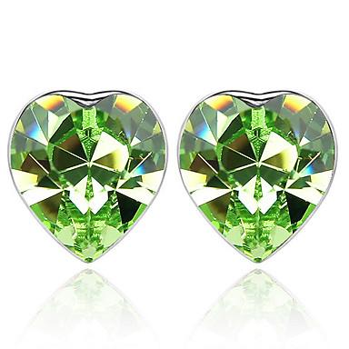Γυναικεία Κουμπωτά Σκουλαρίκια Κρυστάλλινο Εξατομικευόμενο Love Καρδιά Euramerican Κοσμήματα Για Γάμου Πάρτι Γενέθλια