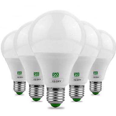 YWXLIGHT® 5pcs 9 W 700-850 lm E26/E27 LED Λάμπες Σφαίρα 18 leds SMD 5730 Διακοσμητικό Θερμό Λευκό Ψυχρό Λευκό DC 24V AC 24V AC 12V DC 12V