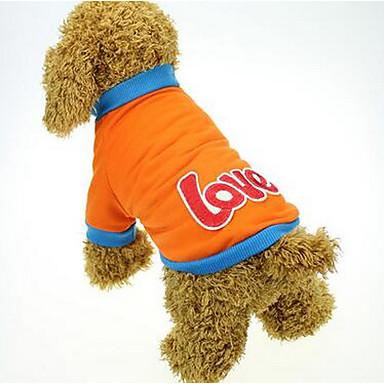 Σκύλος Φορέματα Ρούχα για σκύλους Αναπνέει Χαριτωμένο Καθημερινά Κινούμενα σχέδια Πορτοκαλί Κίτρινο Ροζ Στολές Για κατοικίδια