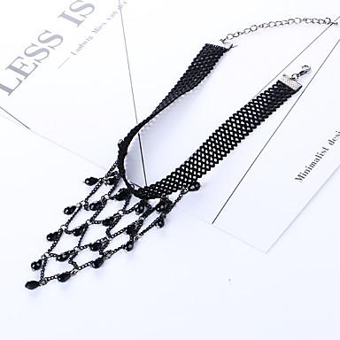 Kadın's Gerdanlıklar Kristal Reçine Moda Kişiselleştirilmiş Euramerican Siyah Mücevher Için Düğün Parti 1pc