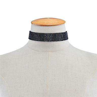 Pentru femei Șuviță unică Personalizat Acrilic Modă Euramerican Coliere Choker Ștras Teracotă Coliere Choker . Petrecere Ocazie specială