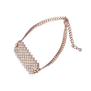 للمرأة أساور السلسلة والوصلة مجوهرات الصداقة موضة كريستال سبيكة Geometric Shape مجوهرات من أجل حزب عيد ميلاد هدية