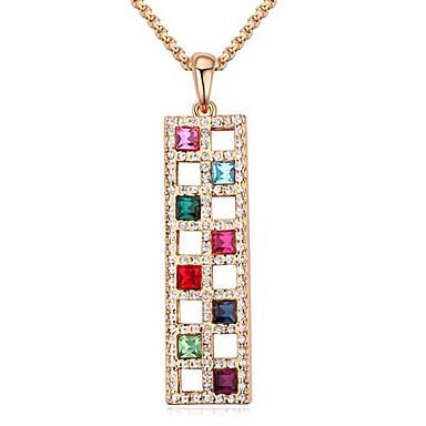 Damskie Naszyjniki z wisiorkami Kryształ euroamerykańskiej minimalistyczny styl Modny Biżuteria Na Ślub Impreza Urodziny