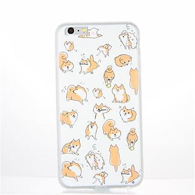 Etui Käyttötarkoitus Apple iPhone 7 Plus iPhone 7 Kuvio Takakuori Koira Pehmeä TPU varten iPhone 7 Plus iPhone 7 iPhone 6s Plus iPhone 6s