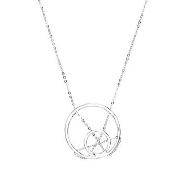 للمرأة Circle Shape تصميم دائري تصميم فريد بانغك توازن الطاقة أسلوب بسيط قلائد الحلي مجوهرات سبيكة قلائد الحلي ، زفاف حزب الذكرى السنوية