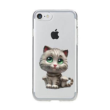 Kılıf Na Apple iPhone 7 Plus iPhone 7 Przezroczyste Wzór Czarne etui Kot Miękkie TPU na iPhone 7 Plus iPhone 7 iPhone 6s Plus iPhone 6s