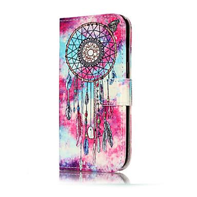 Maska Pentru Samsung Galaxy A5(2017) A3(2017) Titluar Card Portofel Cu Stand Întoarce Model Carcasă Telefon Fluture Prinzător de vise Greu