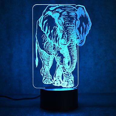 elefantti kosketus himmennys 3d led yövalo 7colorful sisustus tunnelmaa lamppu uutuus valaistus kevyt