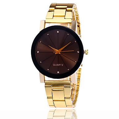 Erkek Quartz Bilek Saati Havalı / Gündelik Saatler Alaşım Bant Günlük / Moda Gümüş / Altın Rengi / Gül