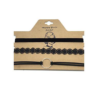 Pentru femei Coliere Choker  -  Piele Stil Atârnat, Modă, Euramerican Negru Coliere Pentru Afaceri, Zilnic, Casual