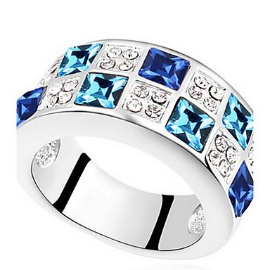 للمرأة خاتم مجوهرات أساسي euramerican في الأحجار الكريمة الاصطناعية كروم مجوهرات مجوهرات من أجل حزب مناسبة خاصة هدية