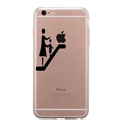 غطاء من أجل iPhone 7 iPhone 7 Plus iPhone 6s Plus أيفون 6بلس iPhone 6s ايفون 6 أيفون 5 أيفون 5C أيفون 4/4S Apple شفاف نموذج غطاء خلفي