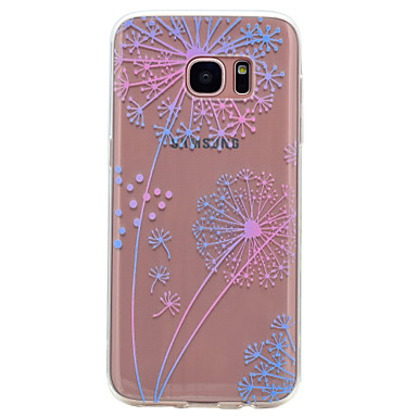 Etui Käyttötarkoitus Samsung Galaxy S8 S7 edge Läpinäkyvä Kuvio Takakuori Voikukka Pehmeä TPU varten S8 S7 edge S7 S6 edge S6 S5 Mini S5