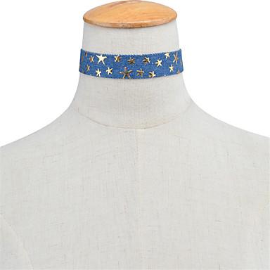 Damskie Pojedynczy Strand Spersonalizowane Podstawowy euroamerykańskiej minimalistyczny styl Naszyjniki choker Biżuteria Materiał